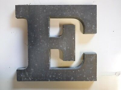 "Vintage Cast Aluminum 8"" Letter ""E"" Marquee - Theater - Wedding Decor"