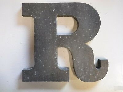 "Vintage Cast Aluminum 8"" Letter ""R"" Marquee - Theater - Wedding Decor"