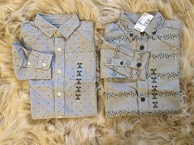 New Childrens Place Lot Of 2 Long Sleeve Boys Shirts, Button Down, 18-24 Mo