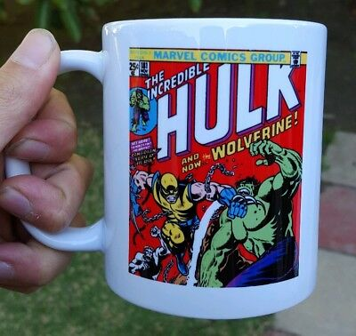 Marvel Hulk 181 Comic Book Mug first appearance of Wolverine Printed Both Sides