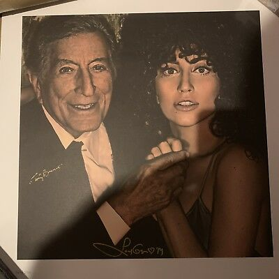 Tony Bennett Lady Gaga Cheek To Cheek LE 250 Lithograph Signed Autograph Wow