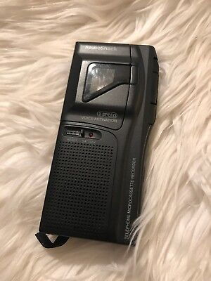 Vintage Radio Shack 2 Speed Voice Activation Microcassette Recorder