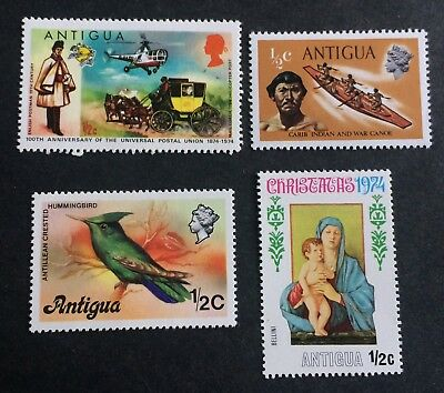 4 nice old stamps Antigua