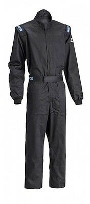 Sparco Driver Racing Suit Black  Size Medium/54   NEW Model