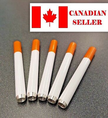 Metal One Hitter Pipe. (cigarette shape), smoking. Canadian seller. Buy 3 Get 1