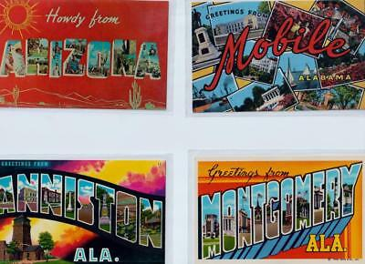 100 Large Letter Vintage Postcards~Posted & Un-posted~Great Condition~1940's