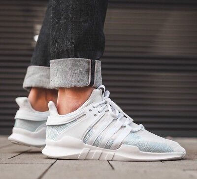 best sneakers b8b45 59d03 NIB ADIDAS EQT Support ADV CK Parley Running Sneakers White/Blue Spirit  AC7804