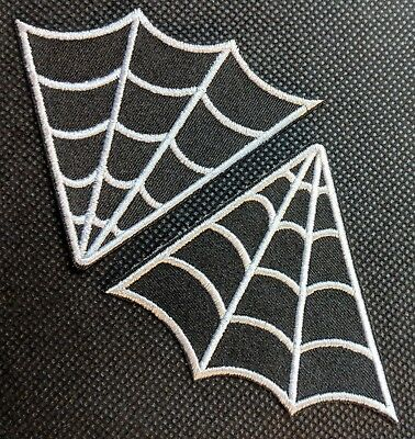 Spider Web Collar Set Spider Webs Embroidered Biker Patch
