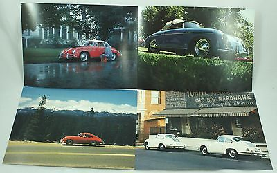 Classic Porsche White Red Blue 356 Coupe Speedster Car Photo Print Lot