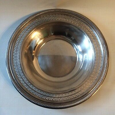 International Silver Company Serving Bowl Dish Tray 12.5 Inches Handcrafted