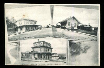 1910S  3 Railroad Stations  Flemington, New Jersey  Photo Quality