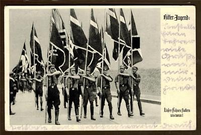 german empire WW II used post card  1937 Jugend