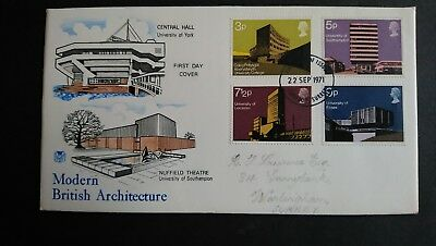 Great Britain Stamps 1971 First Day Cover British Architecture