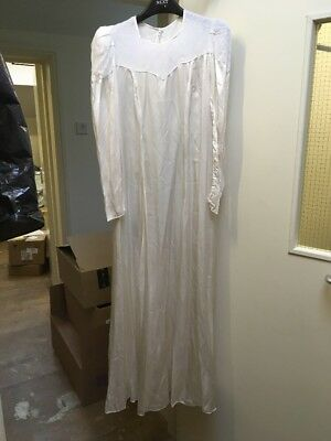 Ex-Hire Plain Wedding Dress Costume TV Theatre Film Good For Upcycling