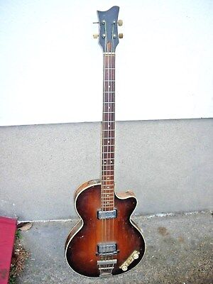 HOFNER Vintage 1960s Electric Bass Club Guitar from estate