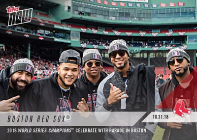 2018 Topps NOW Boston Red Sox 2018 World Series Champions Parade in Boston