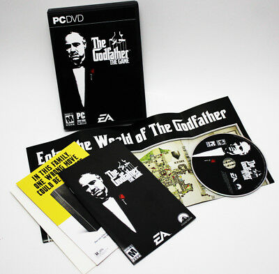 The Godfather The Game 2006 DVD-ROM Complete PC Game Box Manual Map TESTED