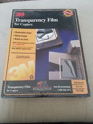 """3M Transparency Film For Copiers 100 Sheets 8.5"""" x 11"""" PP2200 Factory Sealed"""