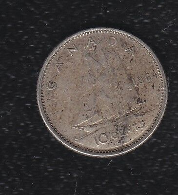 Canada 10 Cents 1964 Silver