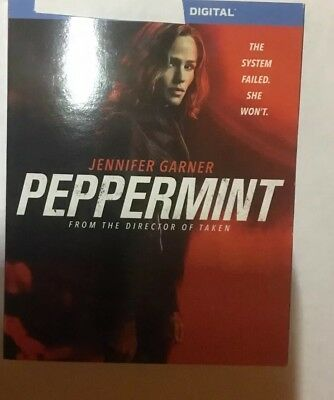 Peppermint. 2018. Digital HD Movie. Jennifer Garner. Email Delivery. iTunes Only