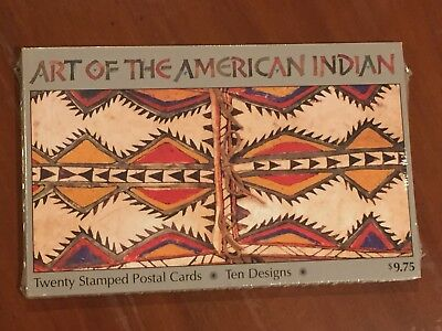 U.S.A. Postal Card UX411-UX420 Art Of The American Indian New & Sealed Pack