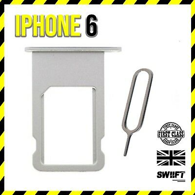 NEW iPhone 6   Sim Card Tray Holder Replacement   Silver