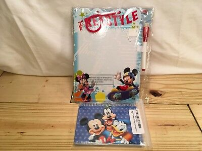 New Official DISNEY Parks Autograph Book Mickey Mouse and dry erase board