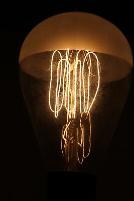 """(C) Antique EDISON Frosted Top Light Bulb 7-1/2"""" Tall"""