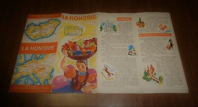 Vintage 1930s Travel Fold Out Brochure -La Hongrie Hungary - Map - Stamped