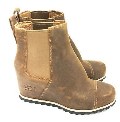 ddc71f31589 UGG AUSTRALIA PAX Leather Women's Wedge Boot 1095136 - Chipmunk ...