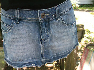 Guess Mini Skirt  denim size 2, 24 inch waist Pre owned excellent condition