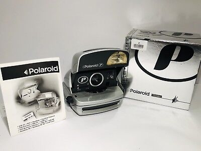 Polaroid P 600 instant Film Camera in Box & instruction Excellent Used Cond.