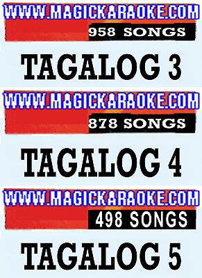 Magic Sing Karaoke Mic 3 Tagalog Song Chips Tag-958 Songs-Tag4-878Songs-Tag5-498