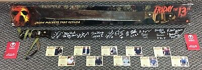 Signed 10 Jason Voorhees Machete Friday the 13th Prop Neca statue mask sideshow