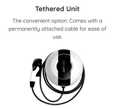 Podpoint Solo S-3kW 20A Type 1 Tethered EV Charger