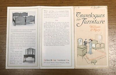 Travelogues in Furniture William and Mary Berkey Gay Furniture Brochure Guide