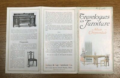 Travelogues in Furniture Chippendale Berkey and Gay Furniture Brochure Guide