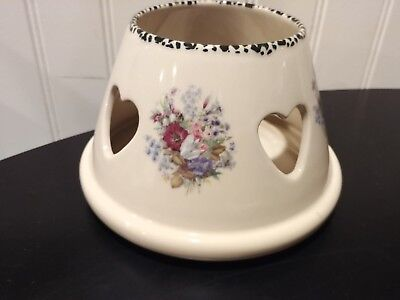 Vintage Home and Garden Party Floral large jar candle shade topper