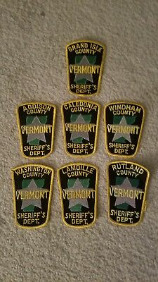 Seven County Sheriff patches state of Vermont