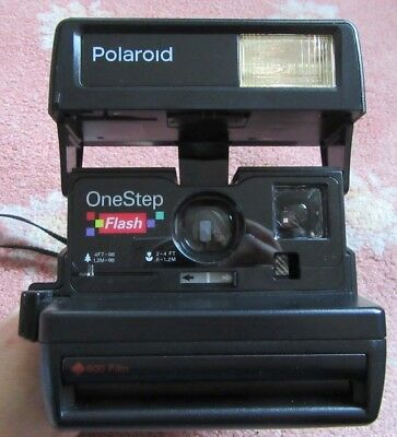 Polaroid One Step Flash Instant Camera, With Close-up Lens - Working
