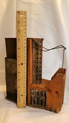 Rare Antique Mouse Trap, Wood & Tin