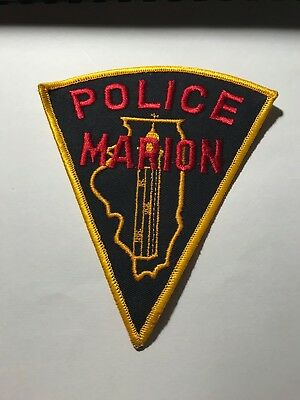 Old Marion IL Illinois Police Patch