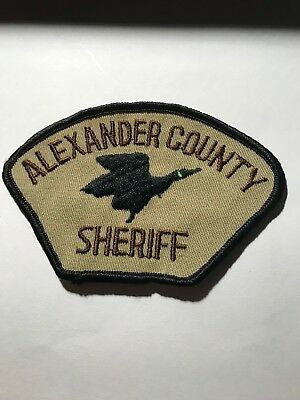 Old Alexander Co. IL Illinois Sheriff Police Duck Patch