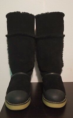 a67c8b8f454b TORY BURCH NADINE Suede Sheep Mid Winter Snow Boots Women s Sz 7.5 M ...