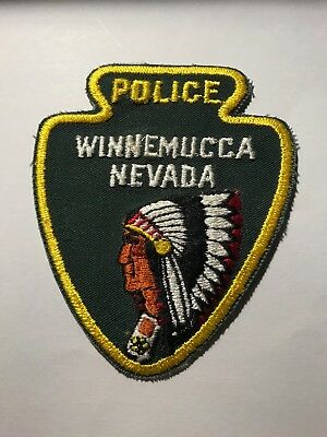 Old Winnemucca NV Nevada Police Indian Head Arrow Patch