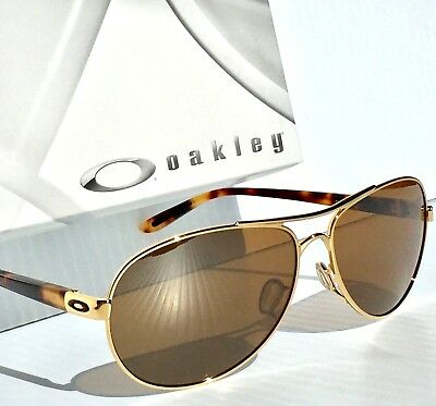 d3e4382218d NEW  Oakley Feedback Gold Tortoise POLARIZED AVIATOR Women s Sunglass  4079-11