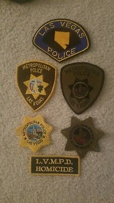 6 Las Vegas Nevada police patches.