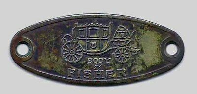 Vintage Brass Name Plate Coach Body By Fisher