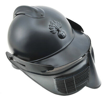 """French M15 Adrian Helmet with Face Mask """"Polack Visor"""" shipped from the USA"""