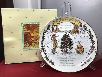Disney Willitts Galleries Winnie The Pooh Christmas Holiday Collector Plate 1988